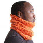 Bright Orange Wool Neckwarmer