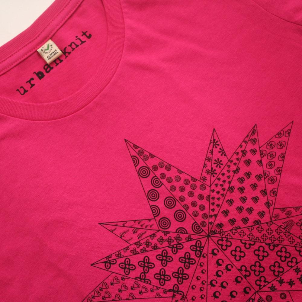 Adinkra Star Hot Pink