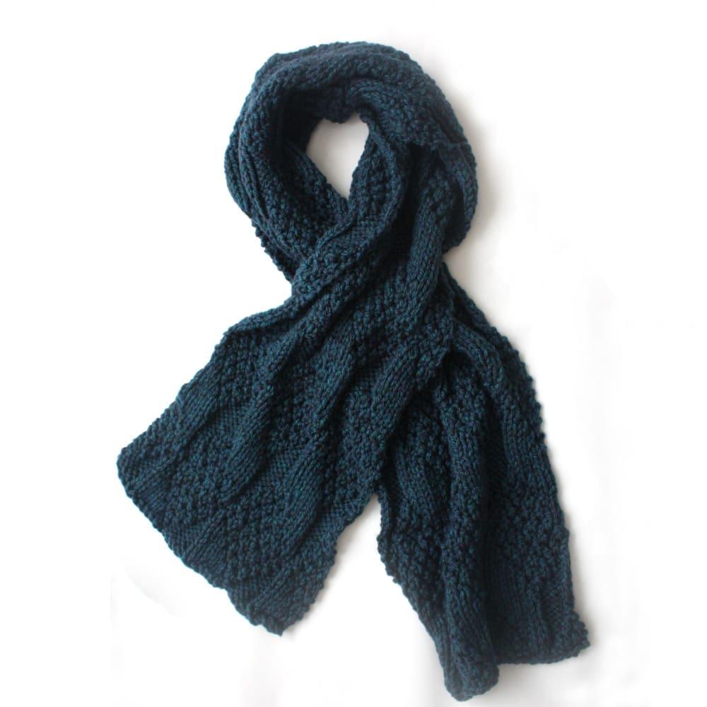 Knitting Chunky Scarf : Blue green chunky knit scarf urbanknit