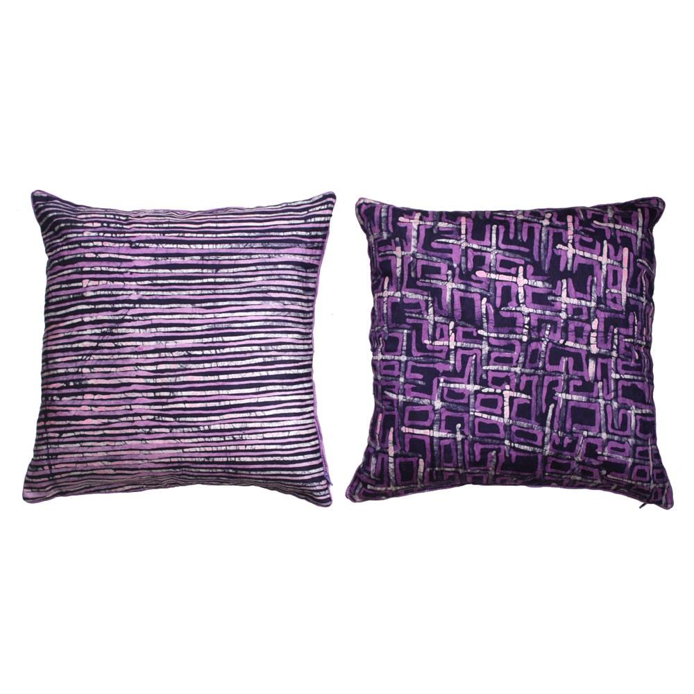 Radiant Orchid Batik cushion