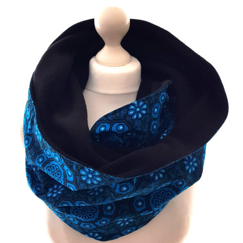 Turquoise Print Snood Scarf